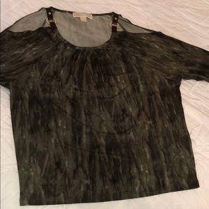 Michael Kors cold shoulder long sleeve shirt!